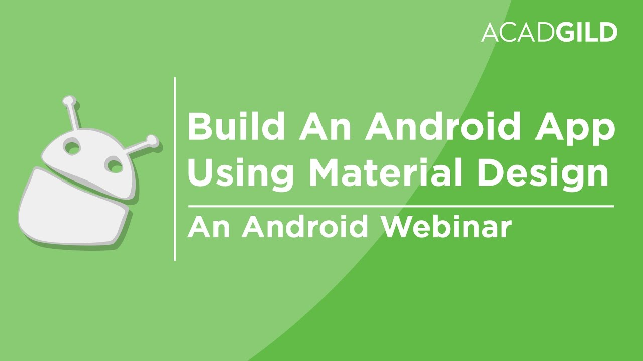 How to Build an Android App Using Material Design | Android Material Design  Tutorial
