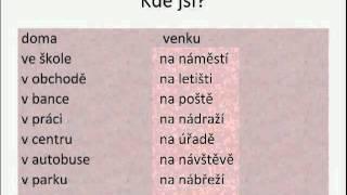 Урок чешского языка онлайн часть 6