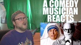 A Comedy Musician Reacts | Mother Teresa vs Sigmund Freud. Epic Rap Battles of History [REACTION]