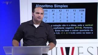 Pesquisa Operacional I - Aula 12 - Algoritmo Simplex - Dual Simplex