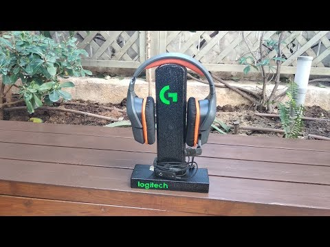 DIY Logitech how to modify  wood headphone stand  base(make it like a pro ) greek