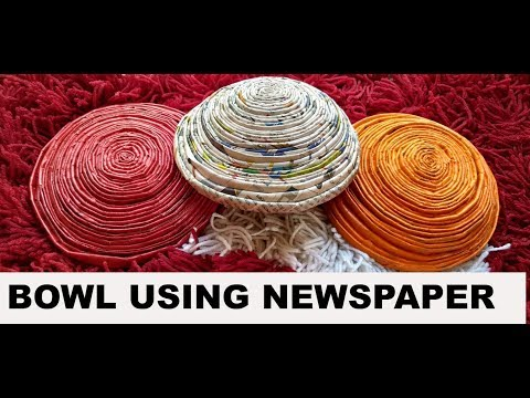 DIY Paper Bowl from News paper   Best out of waste   90's girl Swagata
