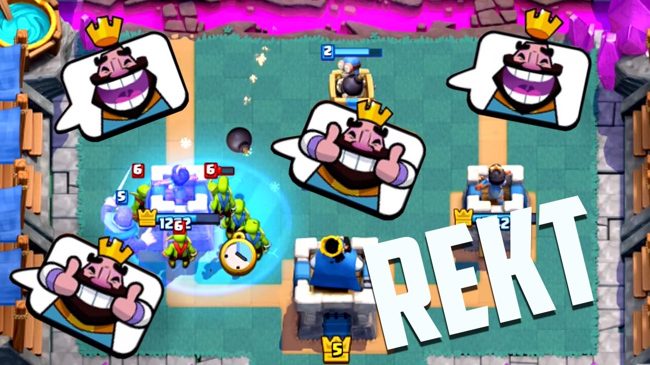 Let's Play Clash Royale Ep. #8: Emote Spammers = REKT! - YouTube