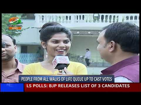 DD INDIA | NEWS NIGHT | People from all walks of life step out to cast their franchise