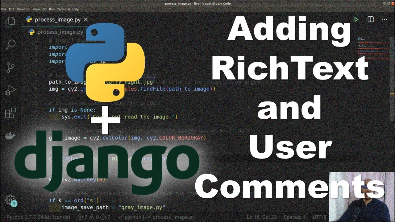 How to Create a Mini Blog Site with Django [Part 4] Add RichText and User Comments