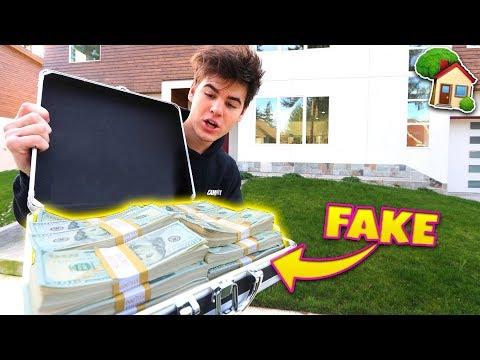 BUYING MY DREAM HOUSE WITH FAKE $1 MILLION PRANK Will it Work?  David Vlas