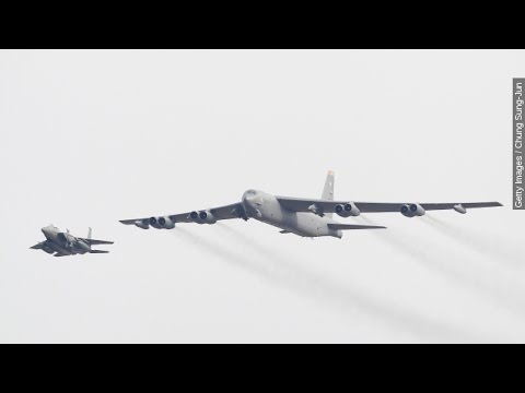 US Flexes Military Muscles, Flies B-52 Bomber Over South ...
