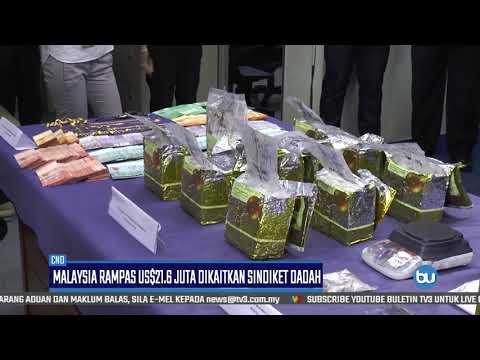 Malaysia Rampas US$21.6 Juta Dikaitkan Sindiket Dadah