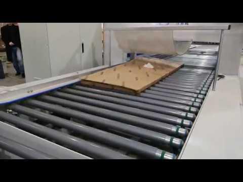 Линия формирования коробки и упаковки деталей мебели на мебельной фабрике