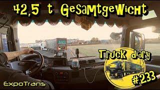 42,5 t Gesamtgewicht / Truck diary / ExpoTrans / Lkw Doku #233