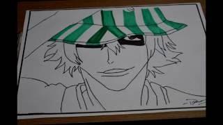 How to draw Kisuke Urahara (Bleach)