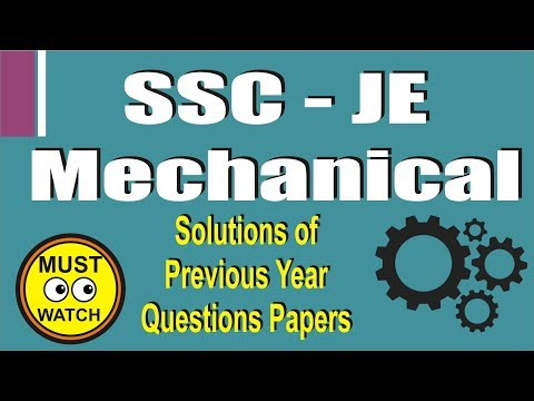 RRB JE previous year solution  mechanical