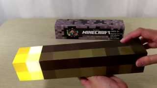Minecraft Wall Torch Replica Unboxing