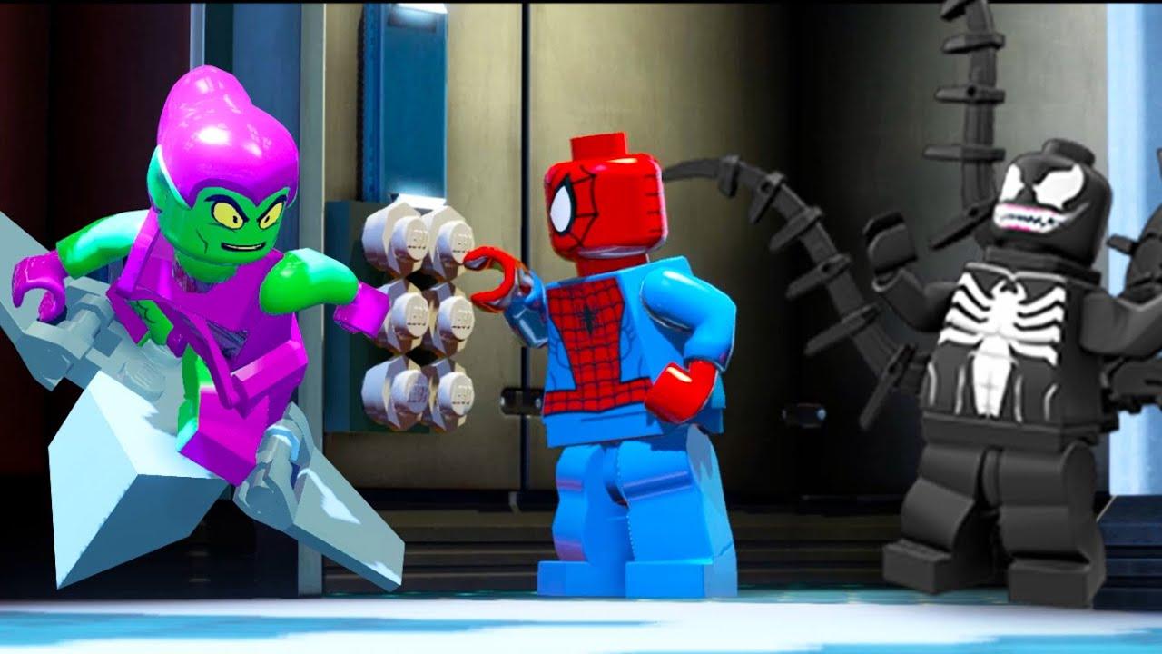 EL HOMBRE ARAA en Espaol  Spiderman vs Duende Verde y Venom