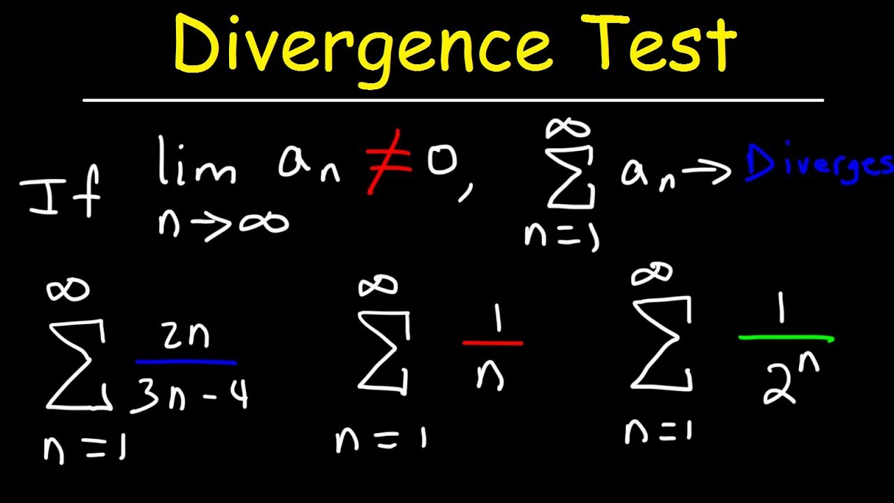 Divergence Test For Series - Calculus 2