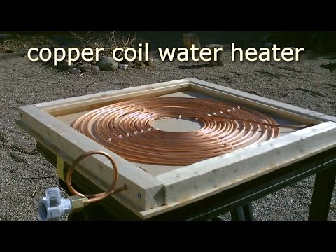 DIY Solar Water Heater! - Solar Thermal COPPER COIL Water He