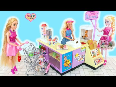 Barbie doll Mini Mart Supermarket Toy Boneka Barbie mainan boneca Barbie Supermercado
