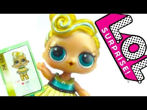 Сюрпризы ЛОЛ, золотой шар с ультра редкой куклой