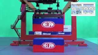 Heljan ContainerTerminal Controlled by TrainController Gold
