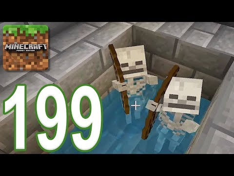 Minecraft: PE - Gameplay Walkthrough Part 199 - Escape The Skeleton Dungeon (iOS, Android)