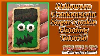 Halloween Frankenstein Sugar Cookie Flooding Tutorial