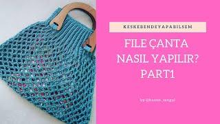 86e82df6c1d03 En Kolay File Anta Yapımı Alışveriş Filesi Diy Shopping Bag From ...