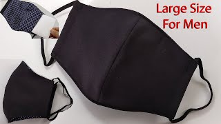 Large Size Face Mask for Men How to make a men s Face Mask Face Mask Sewing Tutorial mascarilla