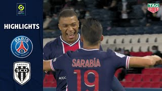 PARIS SAINT-GERMAIN - ANGERS SCO (6 - 1) - Highlights - (PSG - SCO) / 2020-2021