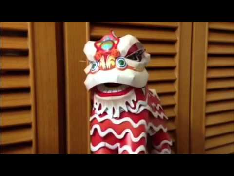Papercraft Lion Dance Youtube