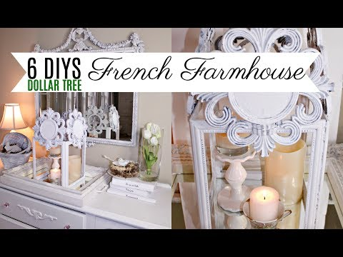 🌿6 DIYS FRENCH FARMHOUSE DOLLAR TREE DECOR CRAFTS LANTERN 🌿