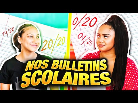 NOS BULLETINS SCOLAIRES 😭📝 FEAT MAMAN