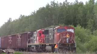 CN 303 passes CN 304 at Carvel