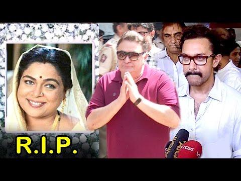 Bollywood Celebs At Reema Lagoo's Last Rights 2017- Aamir Khan, Rishi Kapoor, Kajol
