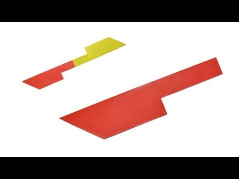 Como Hacer Un Cuchillo De Papel Origami Cardigan Media