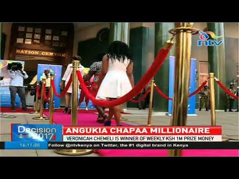 Veronicah Chemeli is winner of weekly Ksh 1Million Angukia Chapaa