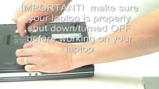 Replace a HP laptop's optical drive with a hard drive