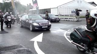 President of Ireland, Michael D. Higgins leaving