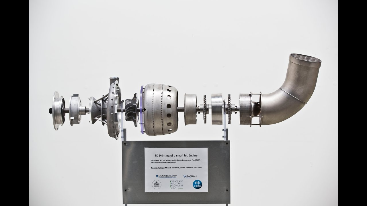 3D Printing of a small Jet Engine