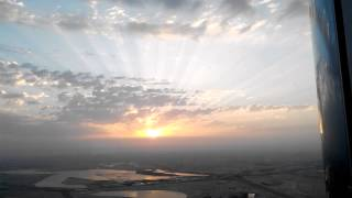 Sun rise view Burj Khalifa