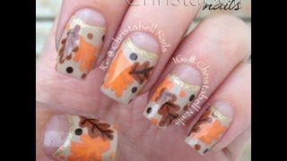 ChristabellNails Autumn Oak Leaf Nails Tutorial