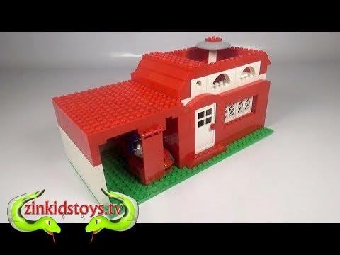 Kitchentoytvlego Basic House 008 With Garage Car Building