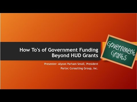 How To's of Government Funding Beyond HUD Grants