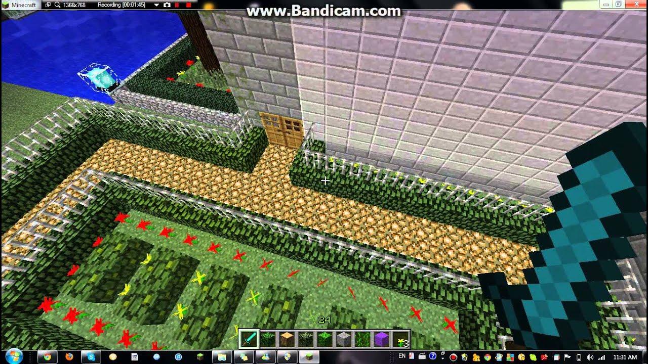 Minecraft  Outdoor Decoration (Pool, Tennis Court, Etc...)   YouTube