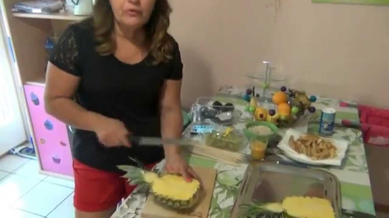 Decoraç u00e3o Com Frutas YouTube -> Decoração De Frutas Para Mesa
