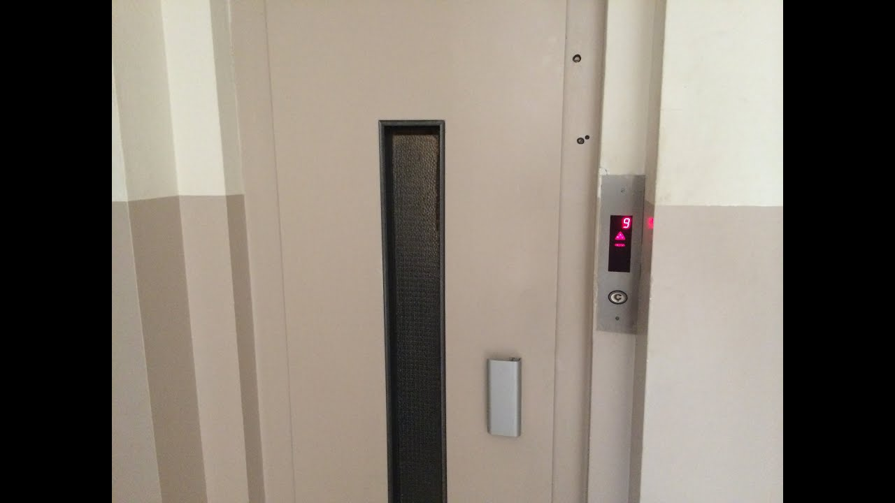 Old Elevator Without Inner Doors At An Apartement Building