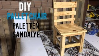 Paletten sandalye yapımı / Making chair from pallets / How to build a chair / Hacer sillas de madera