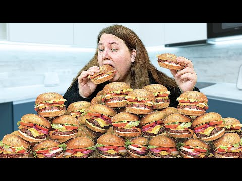 Я съела 100 бургеров за один присест