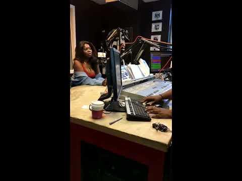 Mballa interviewed by Carolina Waves Radio host on K97.5