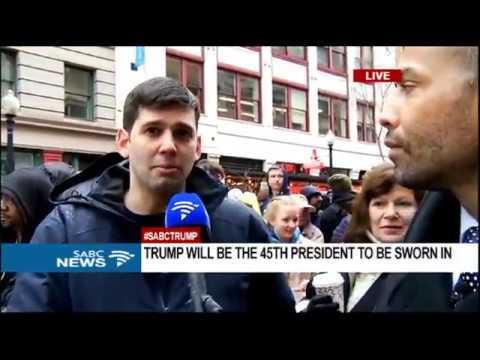 Protests at Trump's inauguration: Sherwin Bryce-Pease