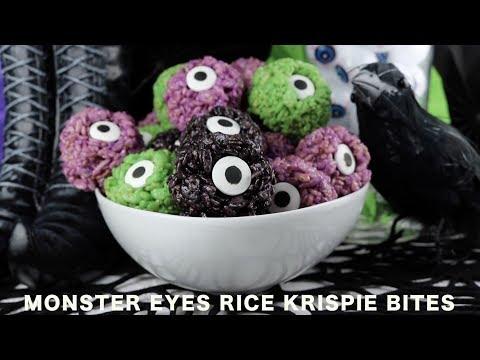 Monster Eyes Rice Krispie Bites By Two Sisters Crafting